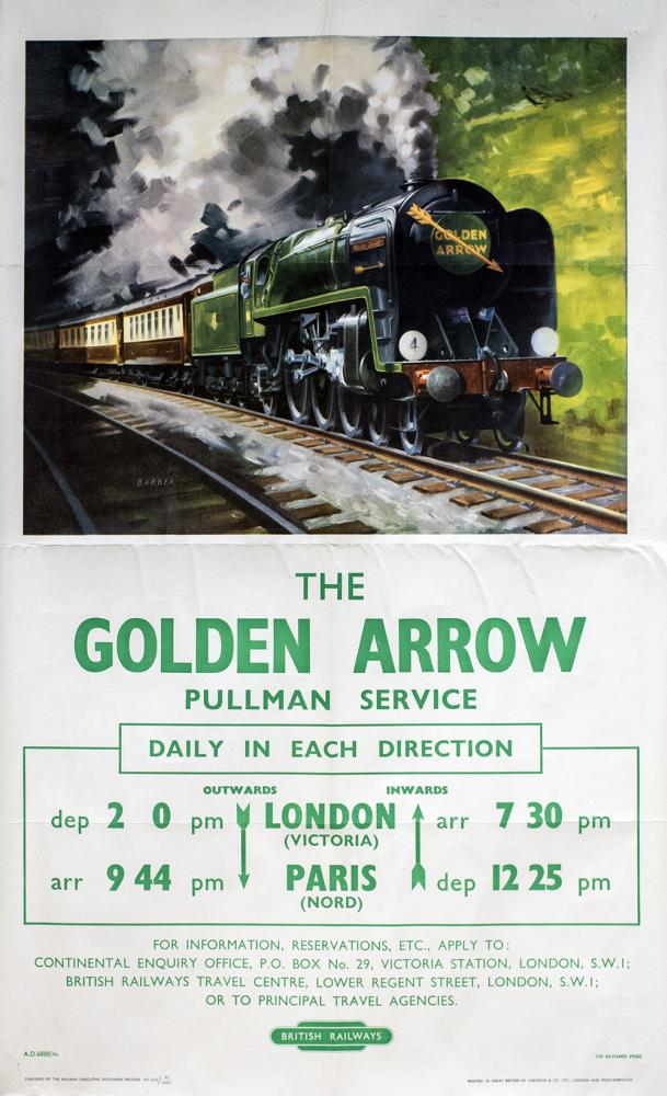 Poster BR(S) THE GOLDEN ARROW PULLMAN SERVICE By