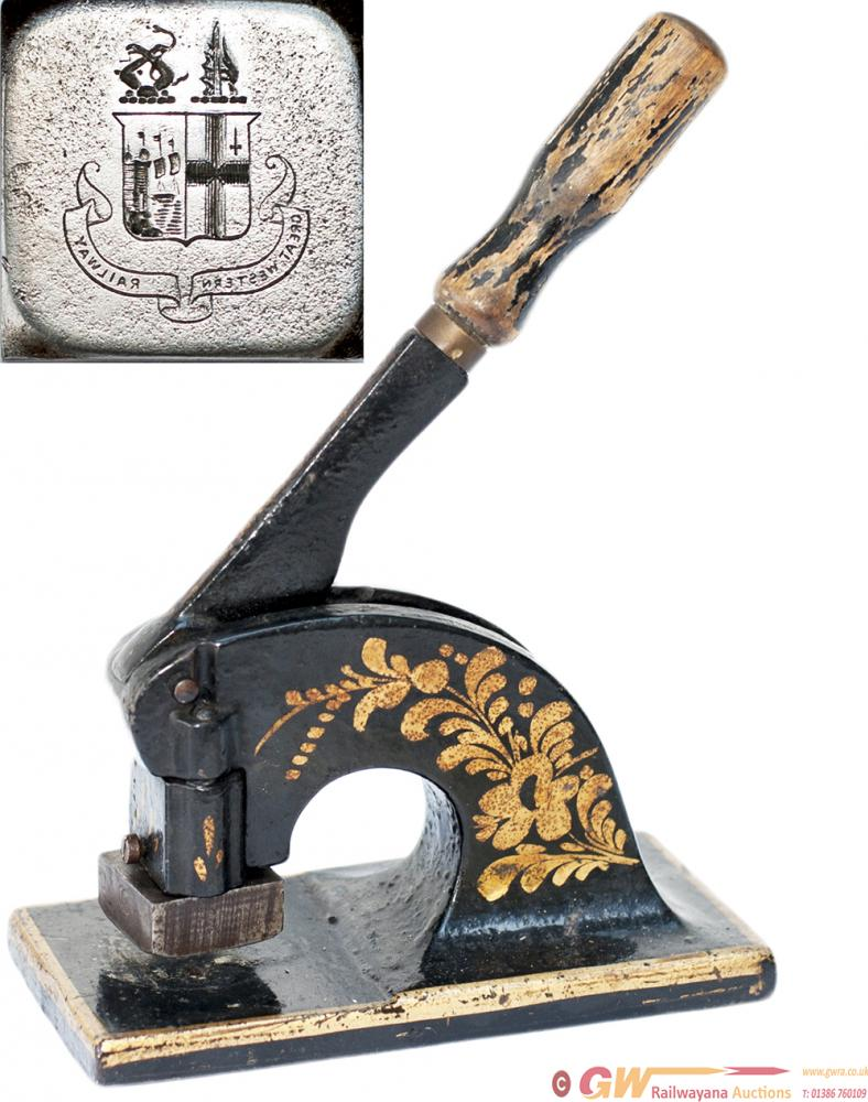 Great Western Railway Letter Embossing Tool. Cast