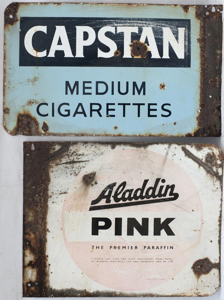 2 X Enamel Double Sided Advertising Signs. CAPSTAN