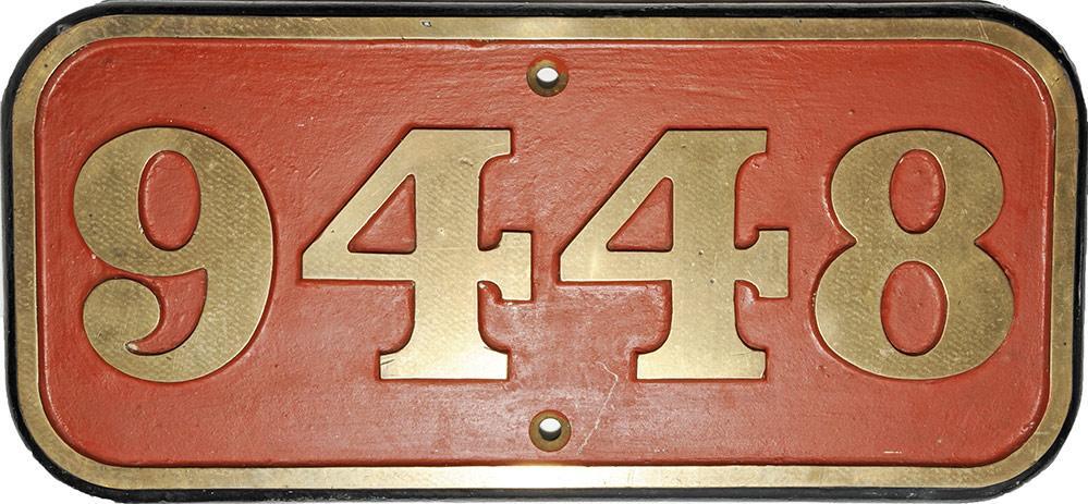 Cabside Numberplate 9448. Ex BR 0-6-0pt Built In