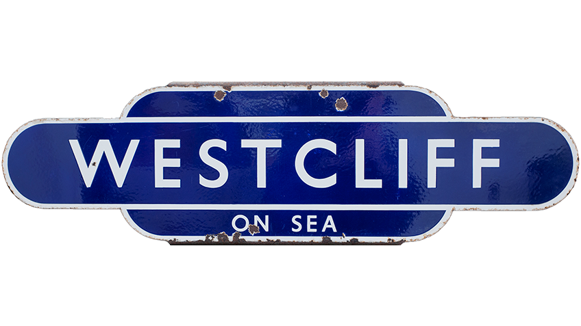 Collectable Antique Railwayana Auction World Records - GW Railwayana - Westcliff on Sea Totem