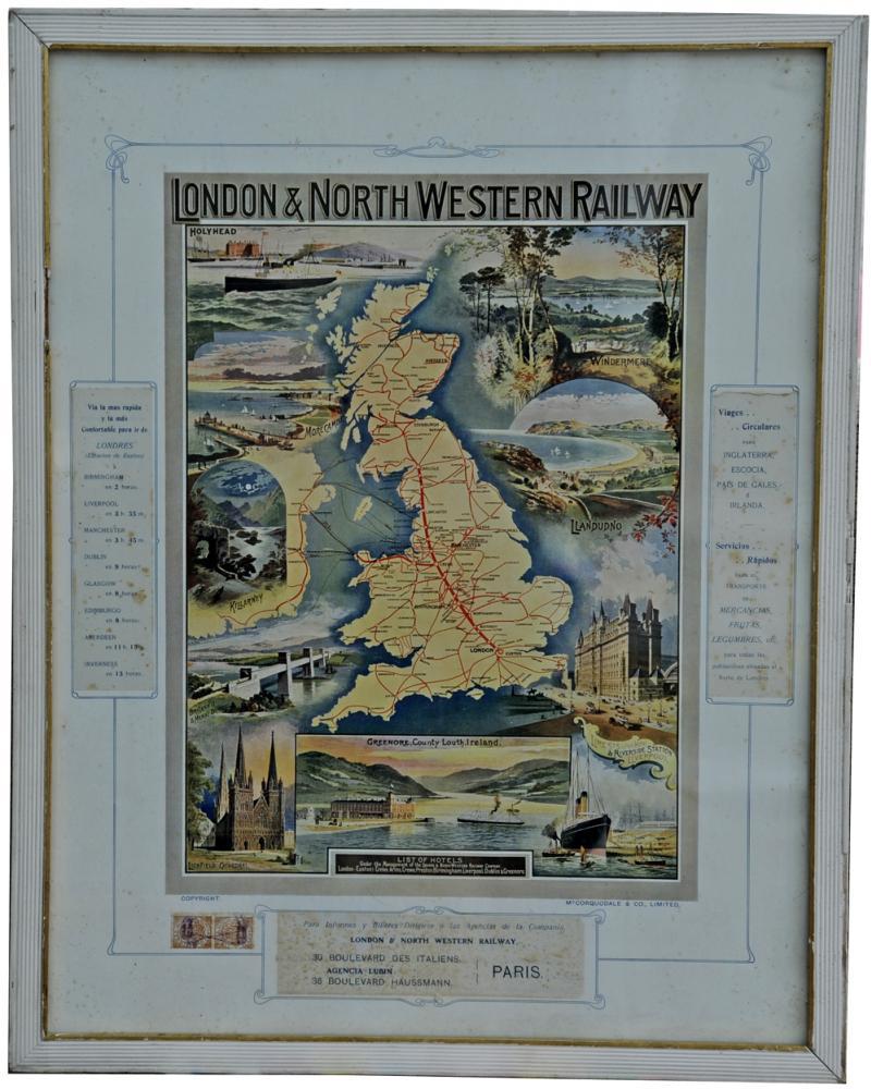 LNWR Framed And Glazed Advertising Poster 24 X 19,