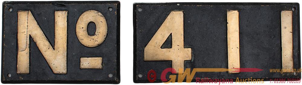 Rhodesian Railways Front Bufferbeam Numberplates