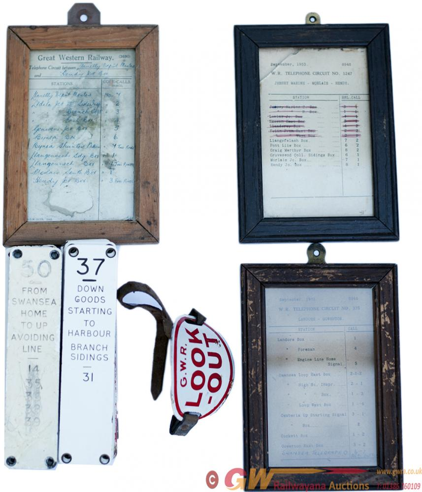 GWR Miscellany Consisting Of: 3 Framed And Glazed