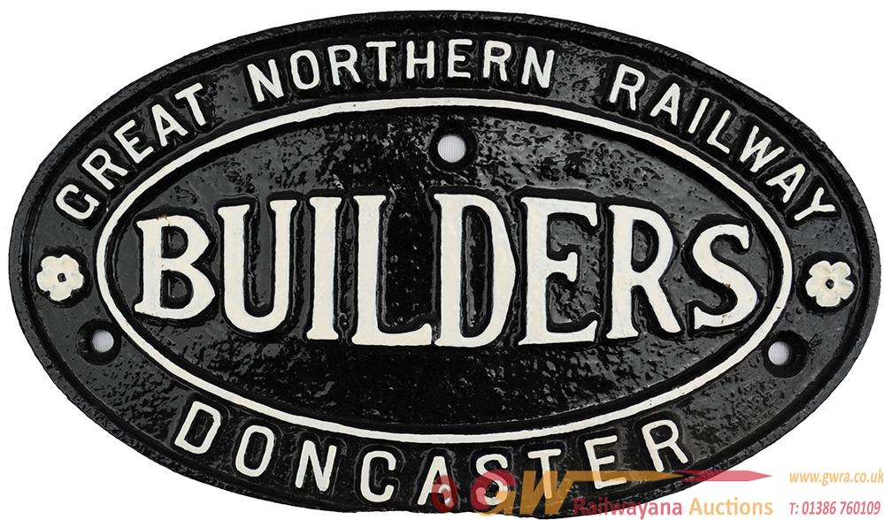 Great Northern Railway Doncaster Cast Iron Oval