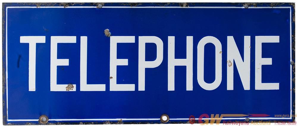 Advertising Enamel Sign TELEPHONE, Double Sided