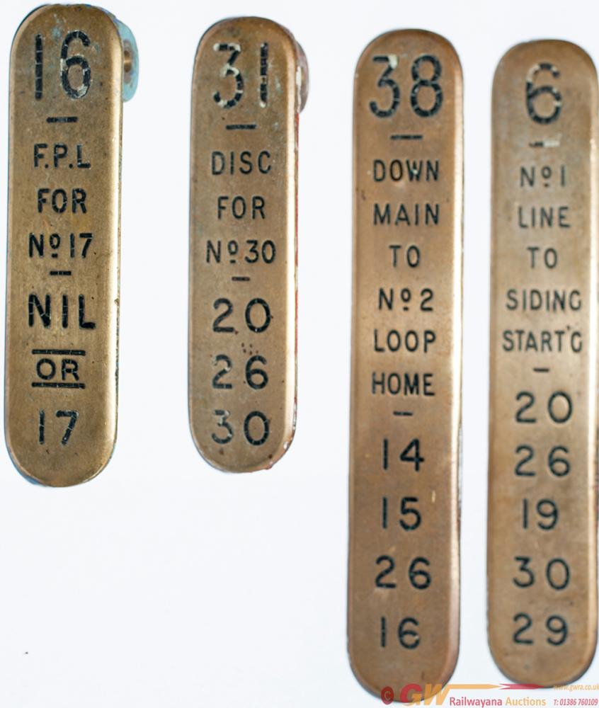 GWR Brass Lever Leads X 4 Consisting Of: 38 DOWN