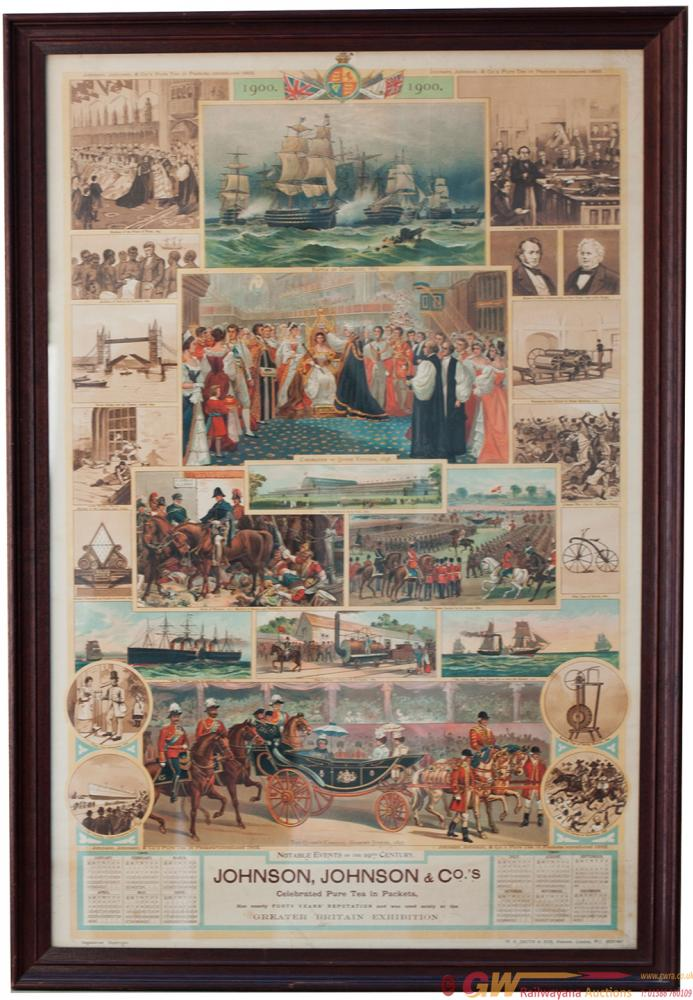 Poster Calendar Of 1900, Published By W H Smith &