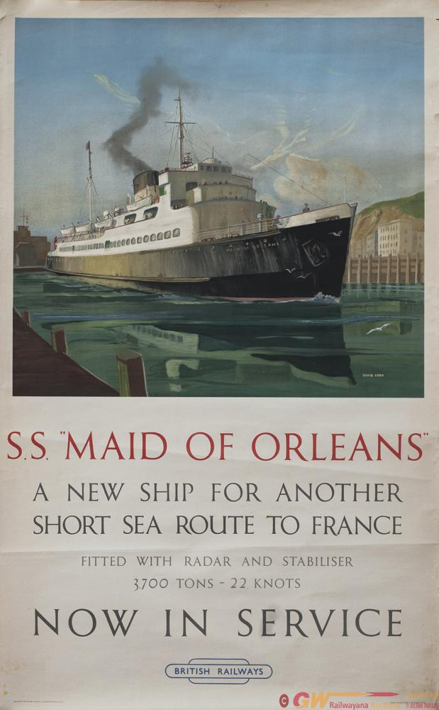 Poster BR(S) SS MAID OF ORLEANS A NEW SHIP FOR