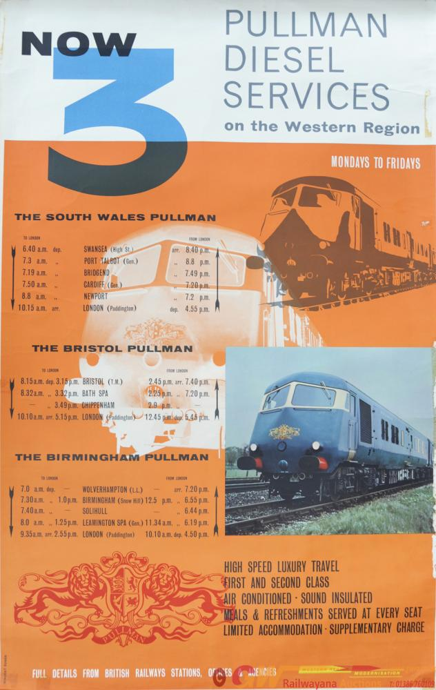 BR Poster 'Pullman Diesel Services On The Western'