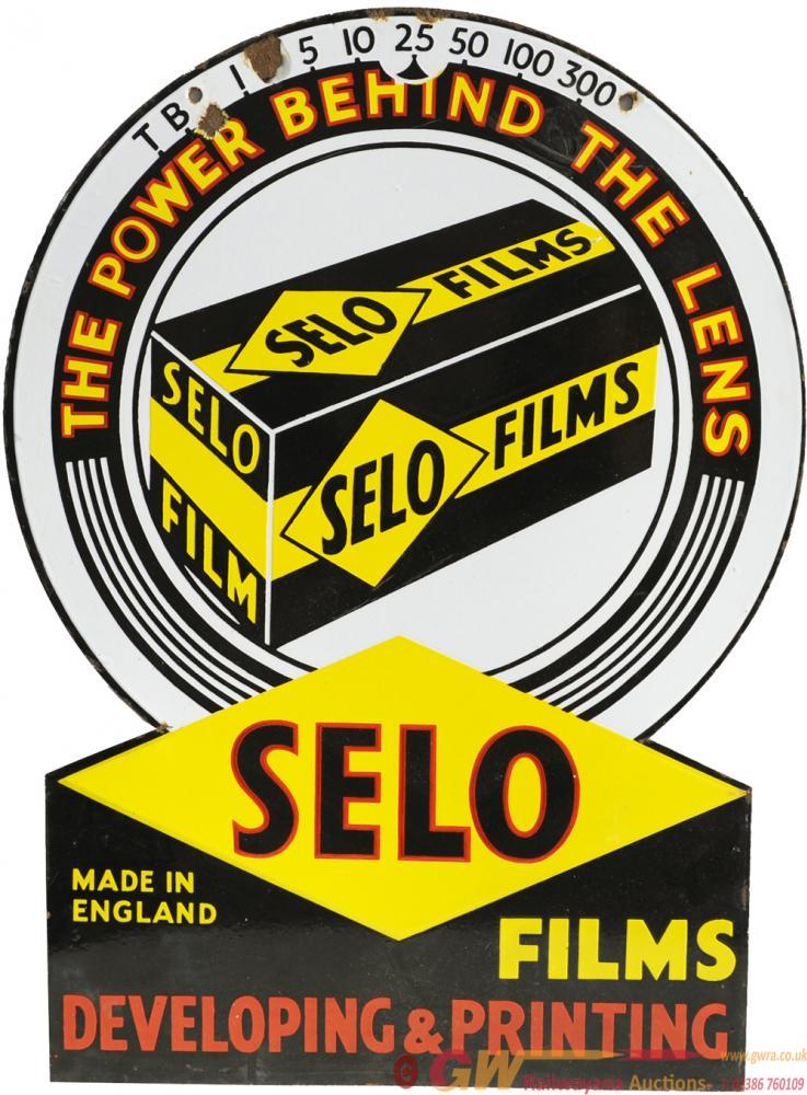 Advertising Enamel Sign, Selo Films - The Power