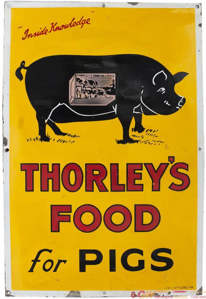 Advertising Enamel Pictorial THORLEY'S FOOD FOR