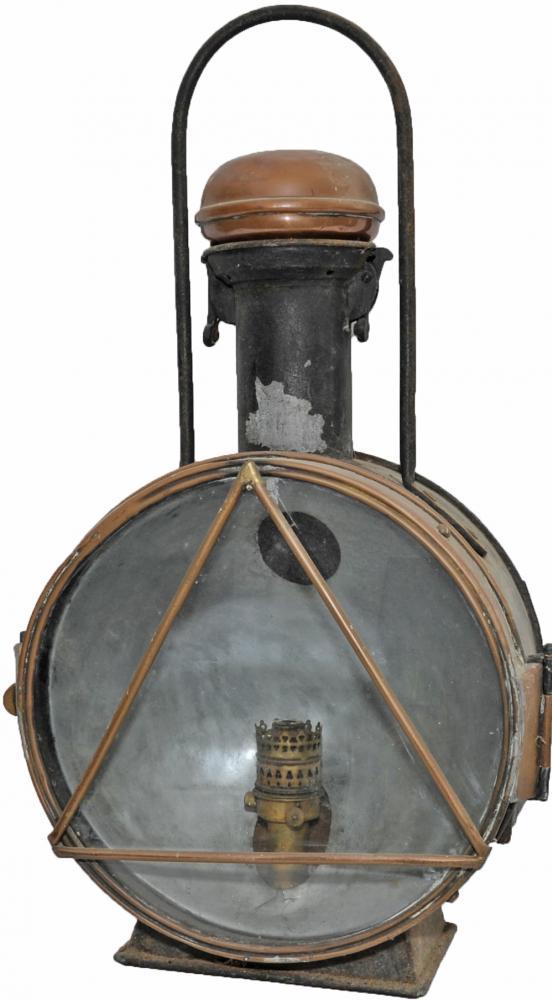Large Locomotive Lamp Of Spanish Origin Bearing