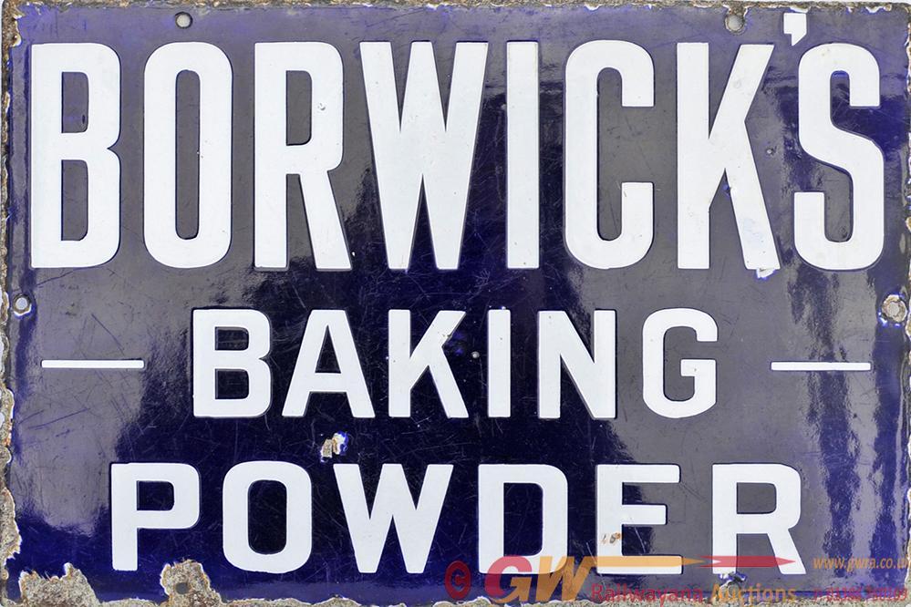 Advertising Enamel Sign BORWICK'S BAKING POWDER