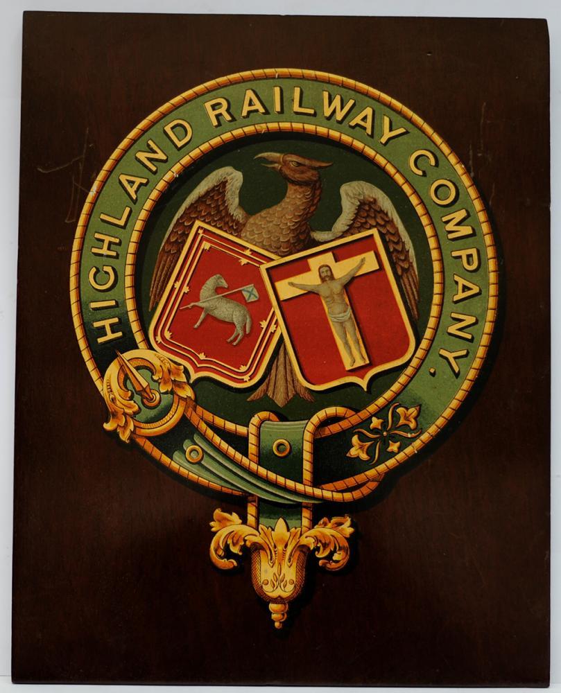 Highland Railway Mounted Crest. The Company Coat