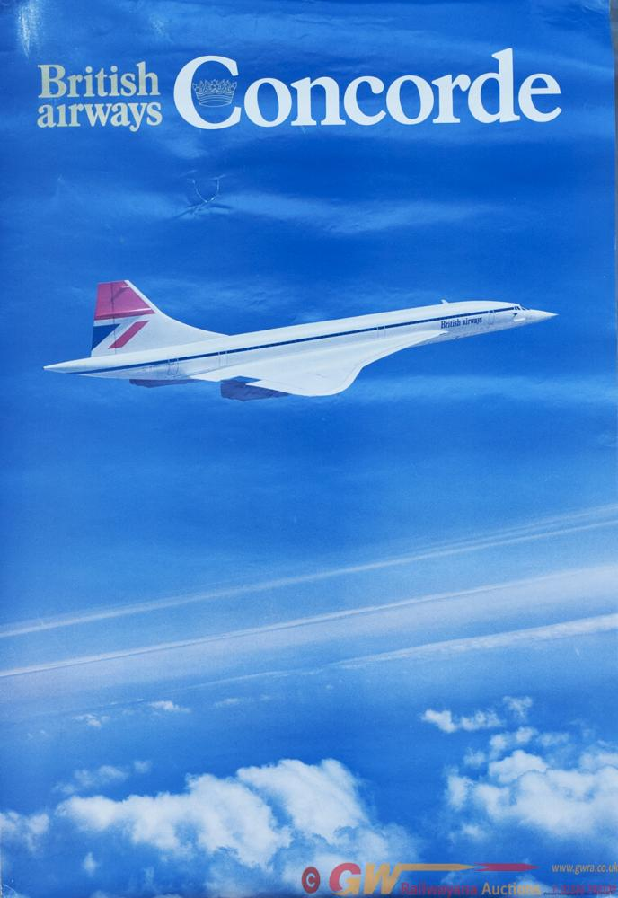 Poster BRITISH AIRWAYS CONCORDE, Double Crown 20in
