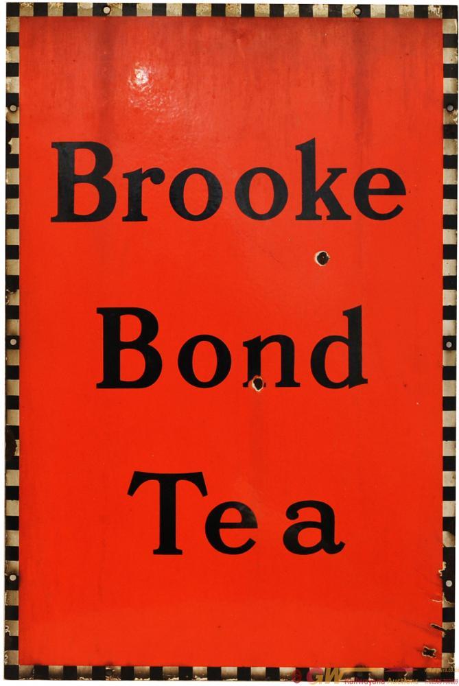 Advertising Enamel Sign 'Brooke Bond Tea' 20in X