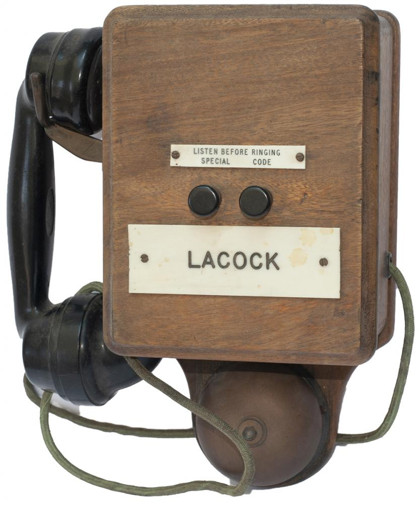 GWR Mahogany Cased Signal Box Telephone With