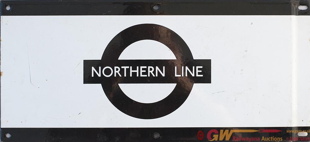 London Underground Enamel Frieze Sign NORTHERN