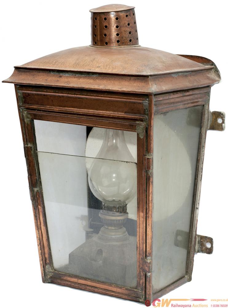 Midland Railway Copper Wall Mounted Station Lamp,