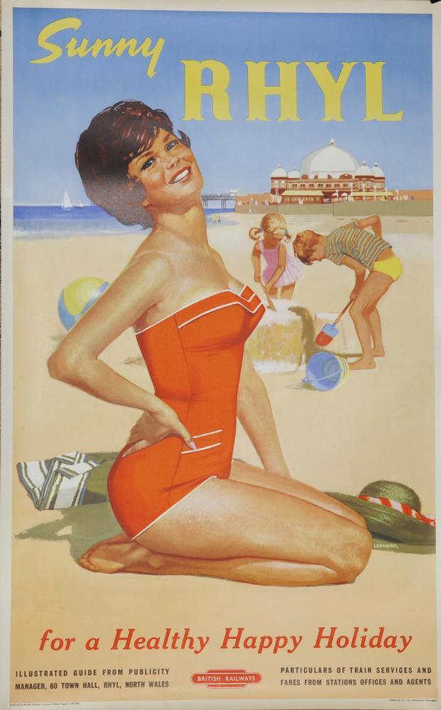 Poster, British Railways 'Sunny Rhyl - For A