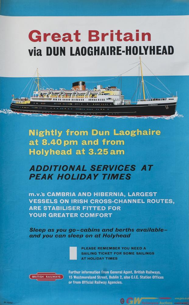 Poster BR GREAT BRITAIN VIA DUN LAOGHAIRE -
