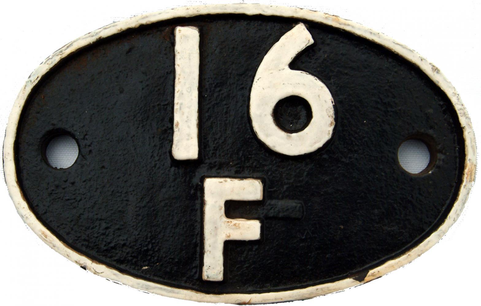 Shedplate 16f, Burton-On-Trent From September 1963