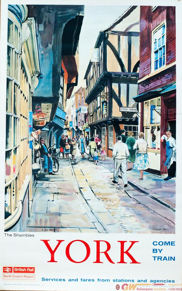 Poster BR YORK THE SHAMBLES By A Carr Linford.
