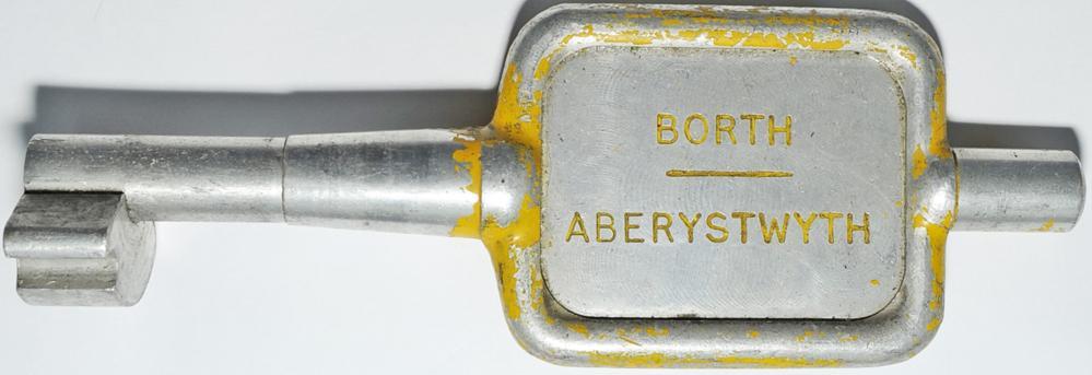 Single Line Alloy Key Token BORTH - ABERYSTWYTH.