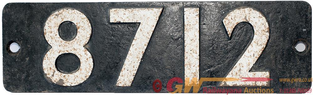 Smokebox Numberplate 8712 Ex Collett 0-6-0pt Built