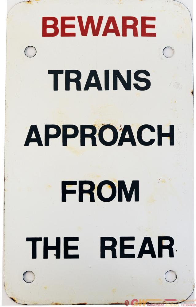 British Railways Enamel, Ex Saltley MPD 'Beware