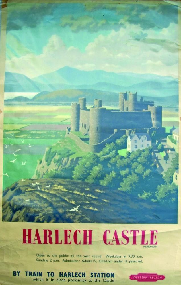 Poster, British Railways D/R 'Harlech Castle,