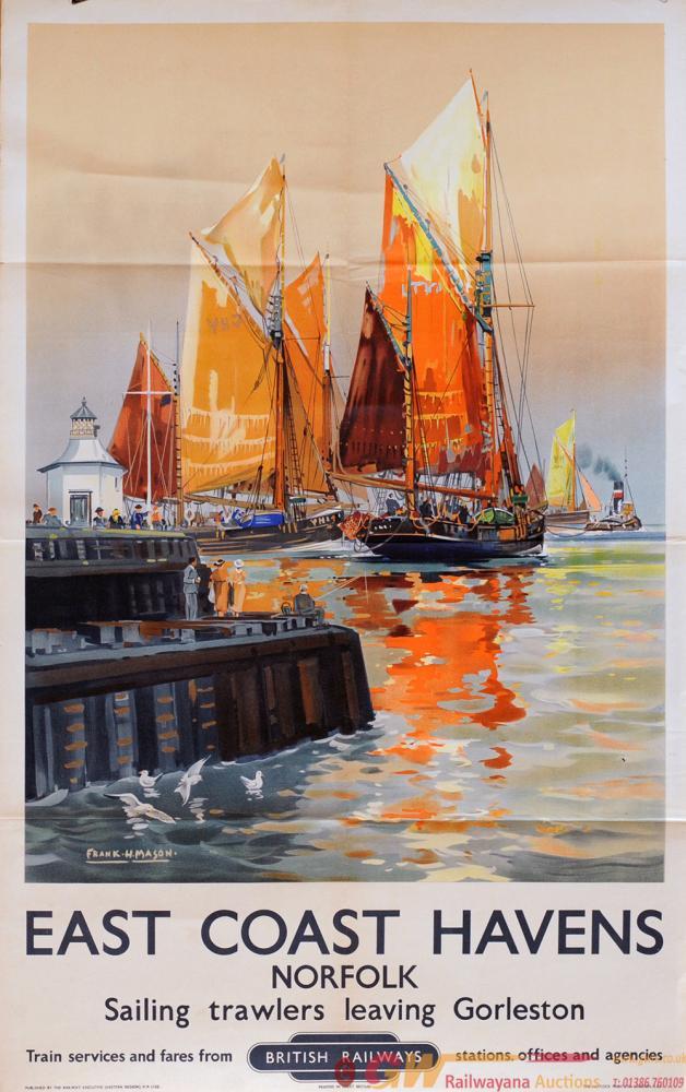Poster, BR(E) 'East Coast Havens, Essex - Sailing