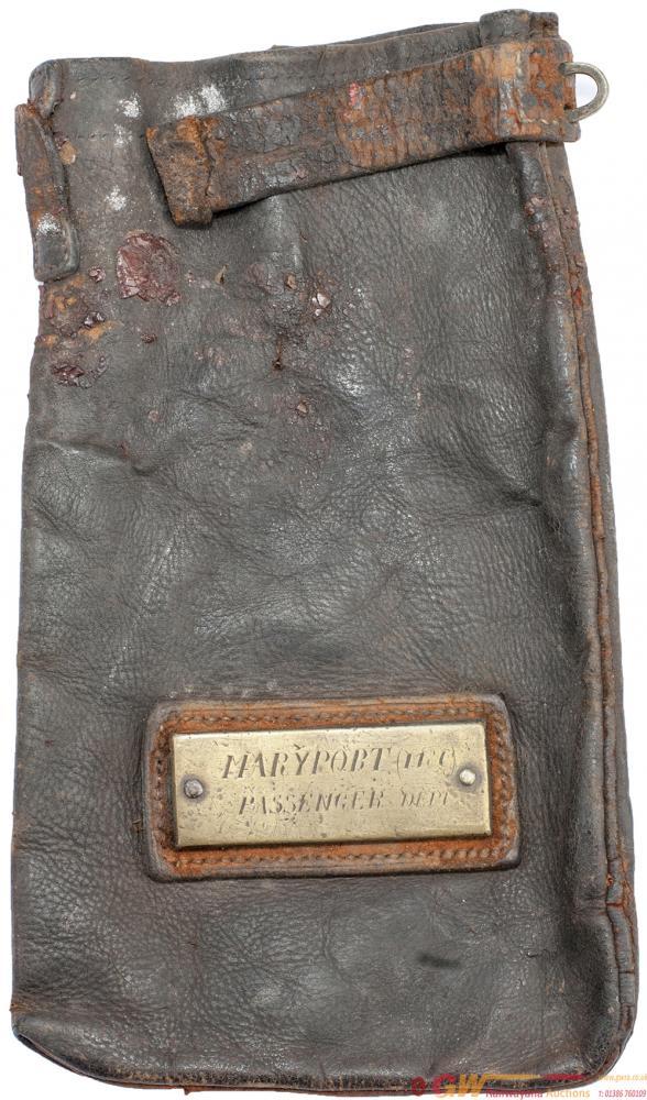 MARYPORT & CARLISLE RAILWAY Leather Cashbag With