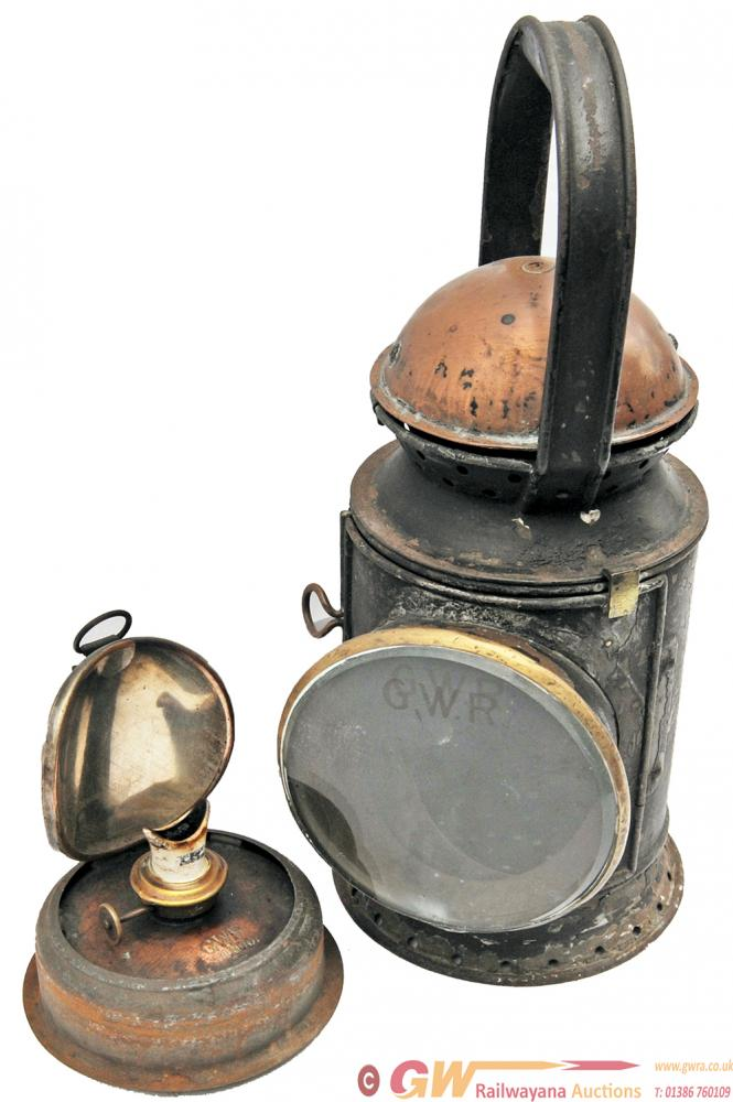 GWR Coppertop 3 Aspect Handlamp.  In Original