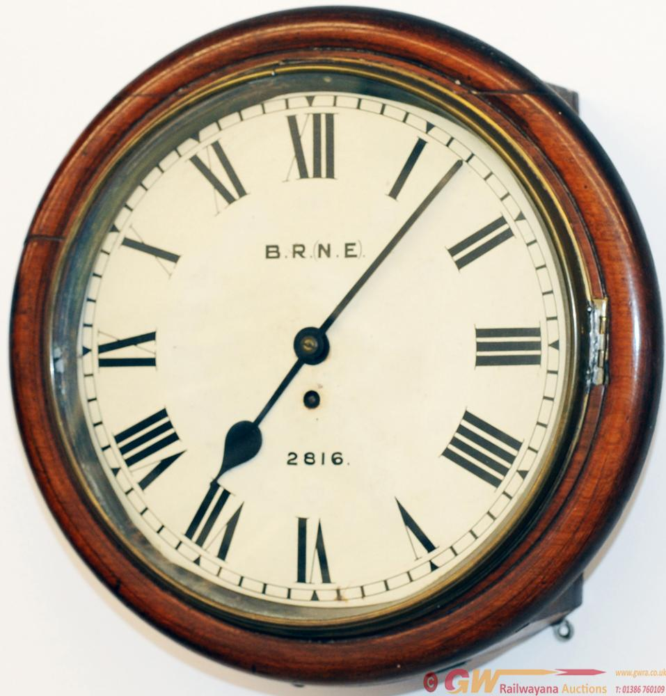 NER 12in Mahogany Cased Fusee Clock No 2816