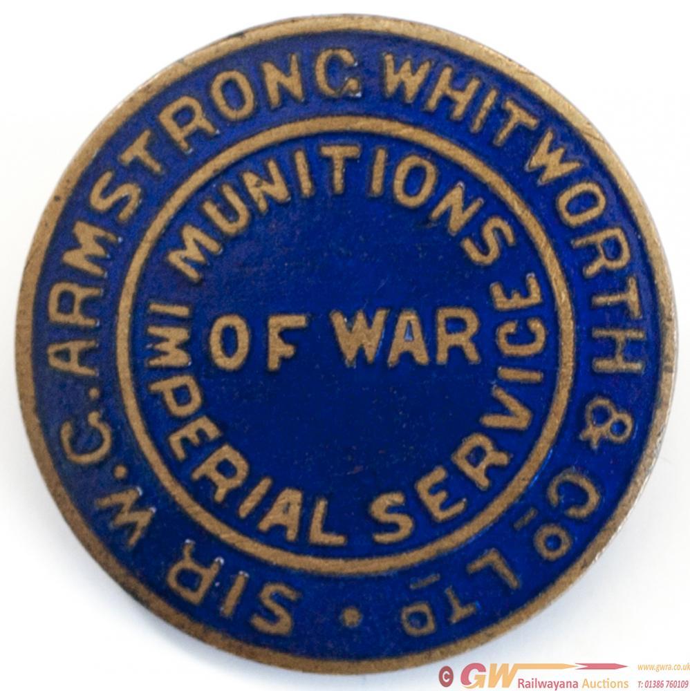First World War Service Lapel Badge SIR W.G.