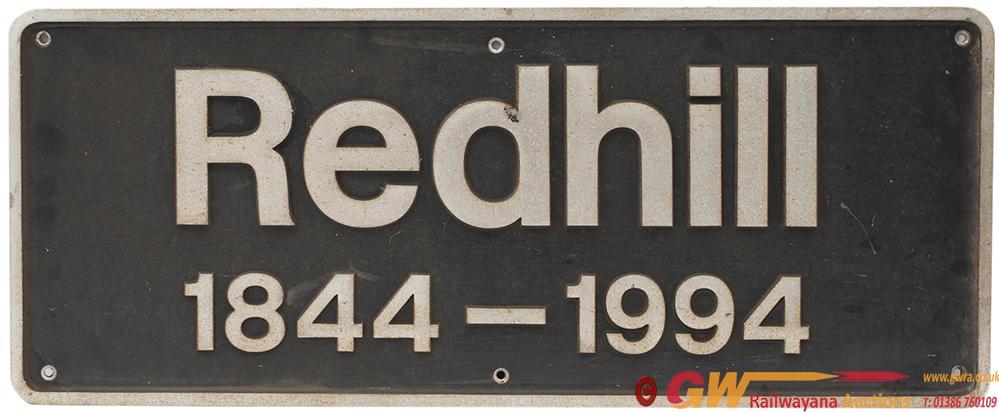 Nameplate REDHILL 1844-1944 Ex BR Class 73 Diesel
