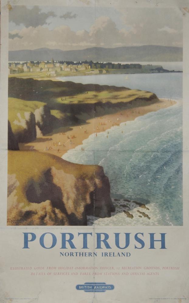 Poster 'Portrush' By Ronald Lampitt, D/R Size.