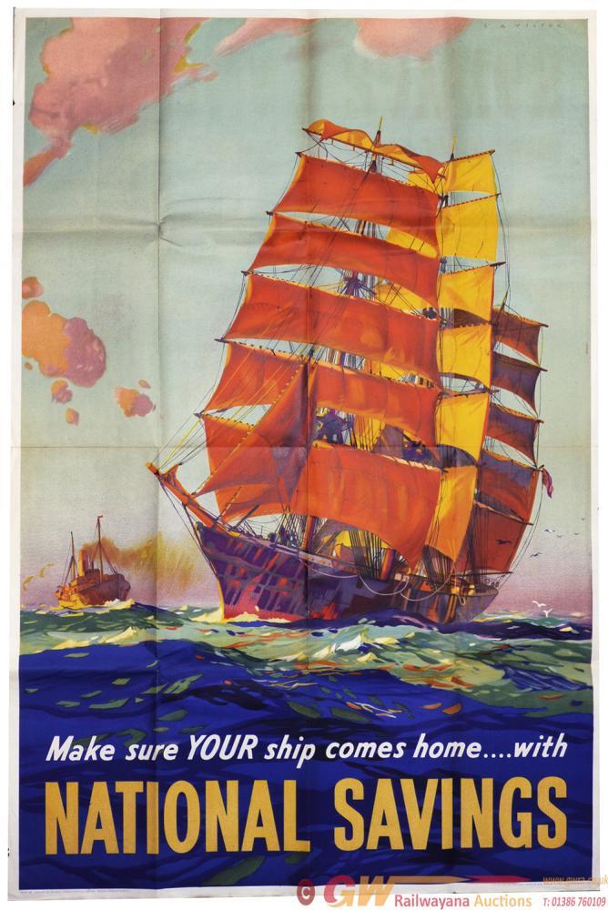 Poster National Savings 'Make Sure Your Ship Comes