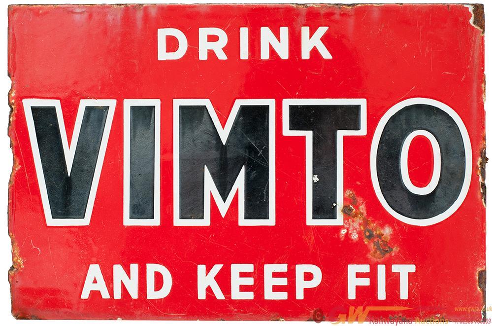 Advertising Enamel DRINK VIMTO AND KEEP FIT.