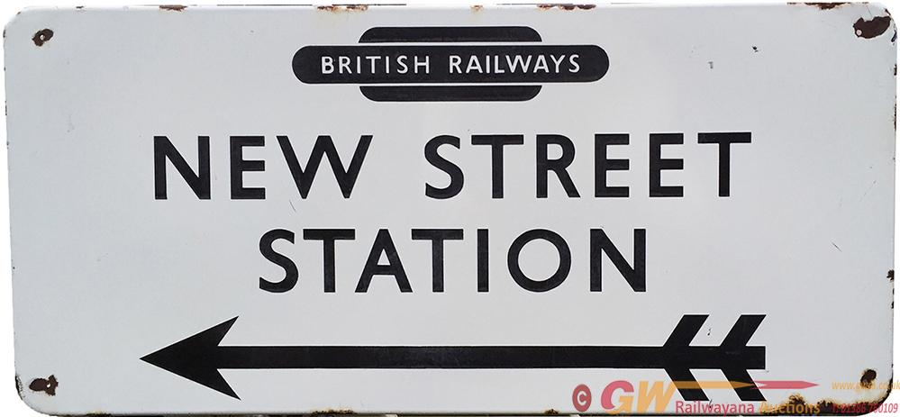 BR FF Enamel Station Direction Sign With British