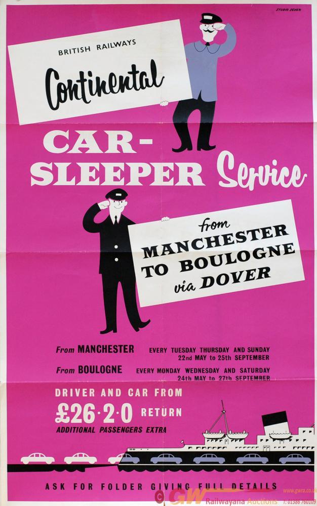Poster British Railways 'Continental Car Sleeper
