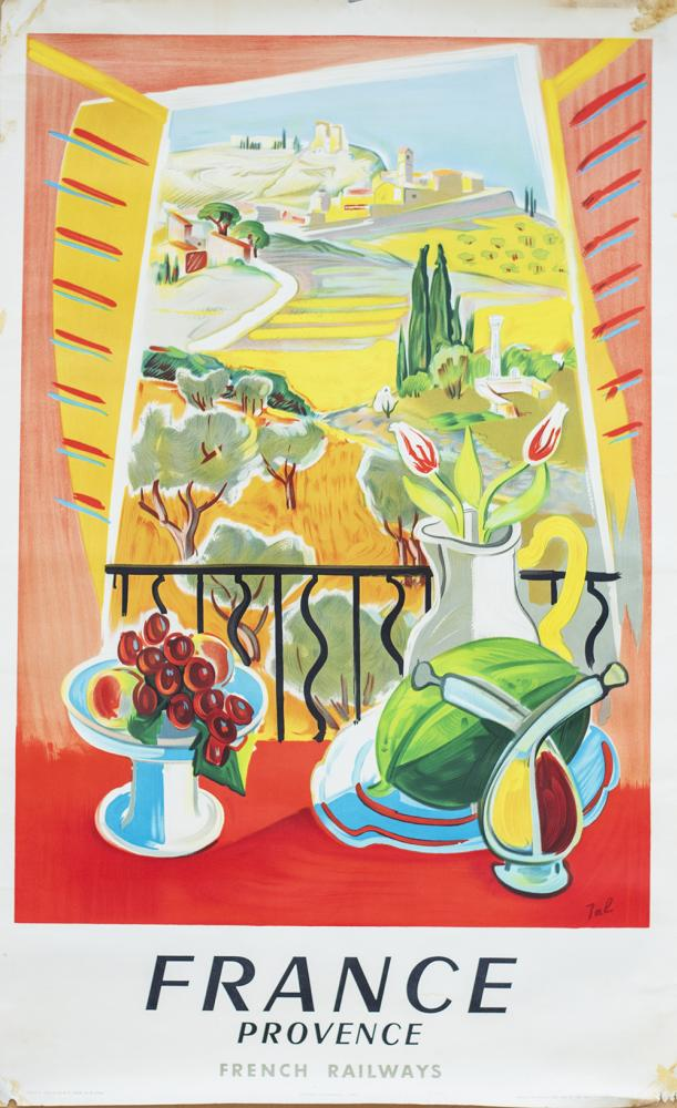 Poster SNCF FRANCE PROVENCE By Jal Paul Martial
