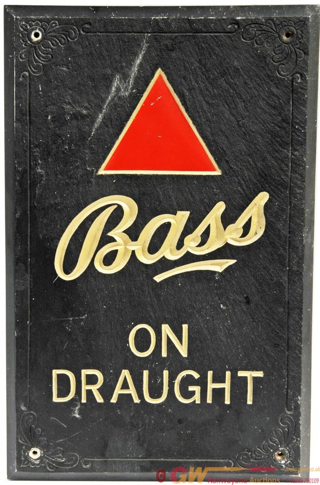 Bass Brewery Advertising Sign Showing The Red