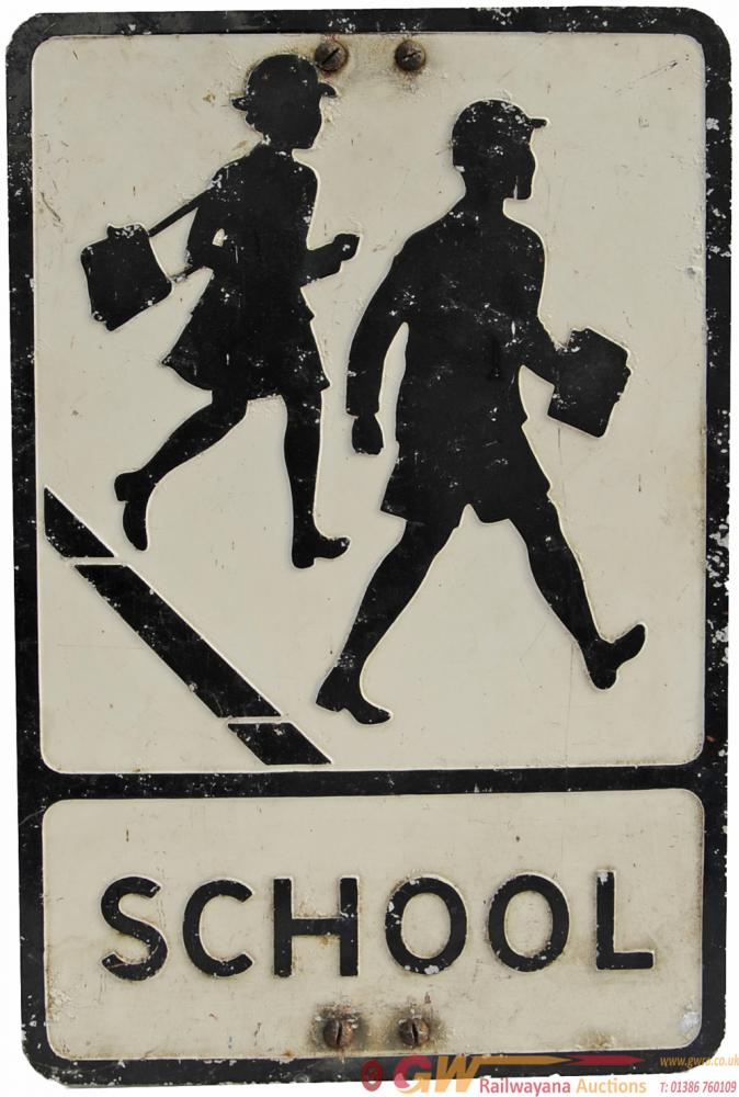 Aluminium Road Sign SCHOOL 21 X 14  Pressed