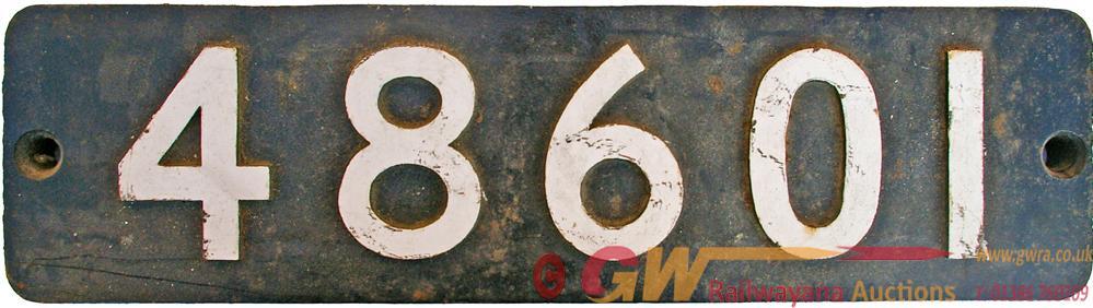 Smokebox Numberplate 48601. Ex Stanier 2-8-0 Class