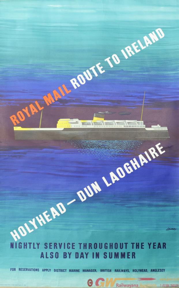 BR Poster 'Royal Mail Route To Ireland - Holyhead