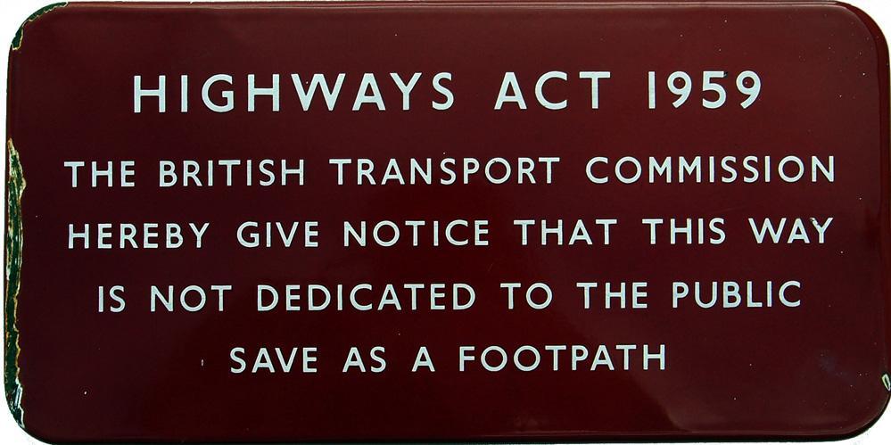 British Railways (M), F/F  Enamel Sign Relating To