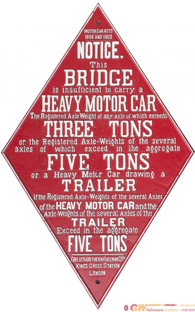 GNR Cast Iron Bridge Diamond, Motor Car Acts 1896